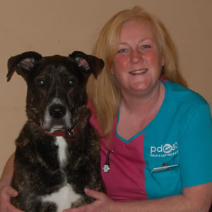 Kylie, PDSA Community and Education Vet Nurse, pictured with her dog Max