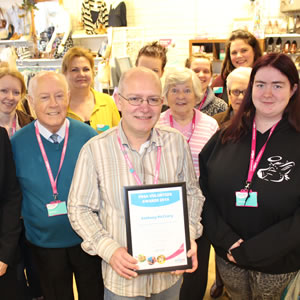 Anthony and other PDSA volunteers in our Lisburn shop.
